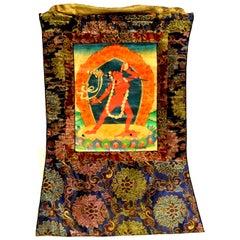 Tibetan Thangka Goddess Dakinis, Hand Painted Tanka