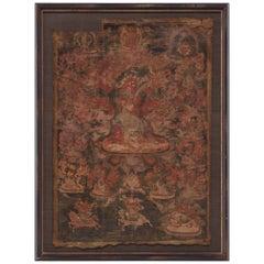 Tibetan Thangka of Hayagriva, circa 1800