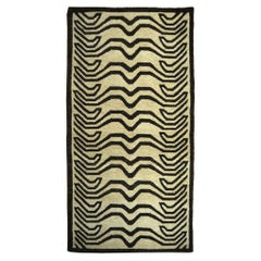 Tibetan Tiger Rug Wool Hand Knotted Beige Brown by Djoharian Collection