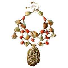 Tibetan Turquoise & Coral  'The Dragon Soars'