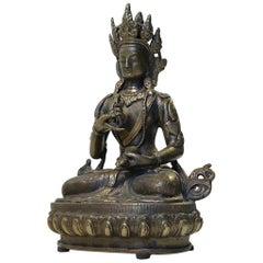 Tibetan Vajrasattva Buddha in Bronze, 19th Century
