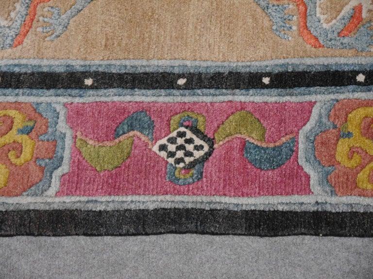 Late 20th Century Tibetan Yoga Khaden Meditation Rug For Sale