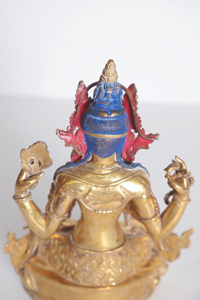 Tibetian Buddhist Deity Chenrezig 'Four-Armed Avalokiteshvara' For Sale 3
