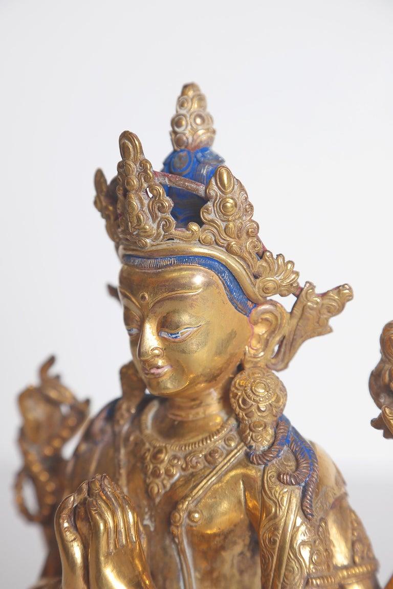 Tibetian Buddhist Deity Chenrezig 'Four-Armed Avalokiteshvara' For Sale 5