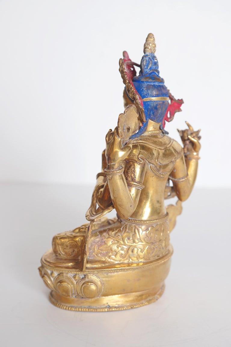 Tibetan Tibetian Buddhist Deity Chenrezig 'Four-Armed Avalokiteshvara' For Sale