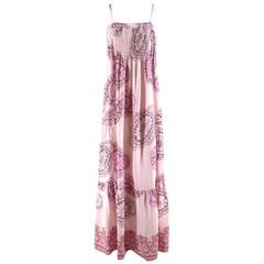 Tibi Pink Floral Patterned Maxi Dress 4