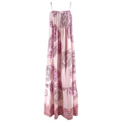 Tibi Pink Floral Patterned Maxi Dress - Size US 4
