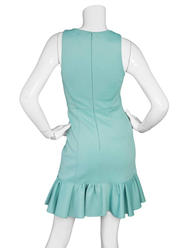 Tibi Sea Foam Green Sleeveless Dress Sz 0 In Excellent Condition For Sale In New York, NY