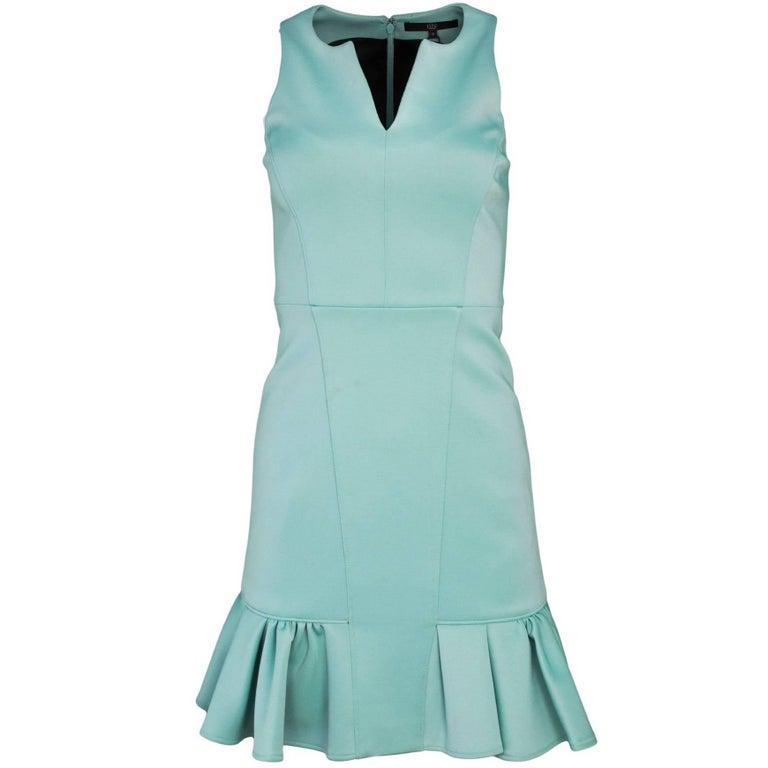 Tibi Sea Foam Green Sleeveless Dress Sz 0 For Sale