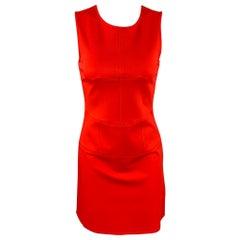 TIBI Size 2 Coral Jersey Viscose Blend A-Line Sleeveless Dress
