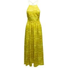 Tibi Yellow Sleeveless Maxi Dress