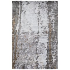 Tidal Moonlight Hand-Knotted 10x8 Rug in Bamboo Silk by David Rockwell