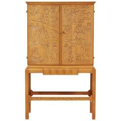 """""""Tidens Cavalcade"""" Storage Cabinet-Bar by Eugene Höglund, circa 1930"""