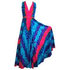 Tie Dye Palazzo Pants - Hippie BOHO Jump suit Pants 1970s