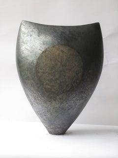 Black Sun, Abstract Ceramic Sculpture