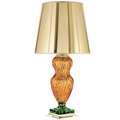 Tiepolo Lamp in Amber and Green