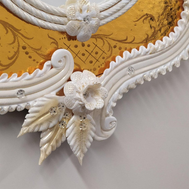 Modern Tiepolo Murano Glass Mirror For Sale