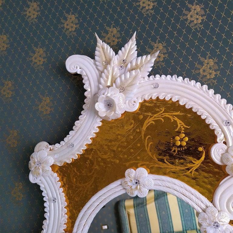 Italian Tiepolo Murano Glass Mirror For Sale