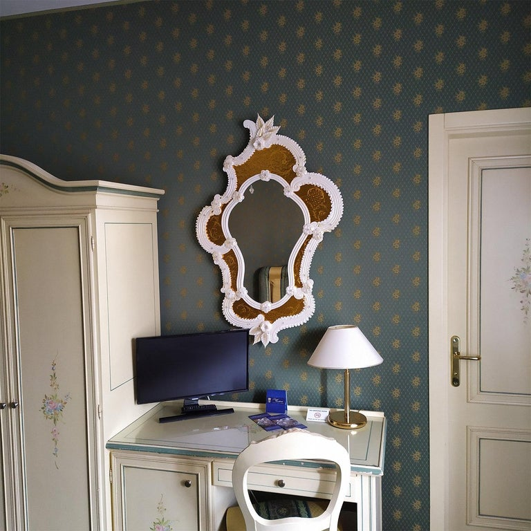 Tiepolo Murano Glass Mirror In New Condition For Sale In Milan, IT