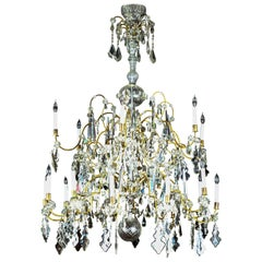 Tiered, Italian, Crystal Chandelier, circa 1900