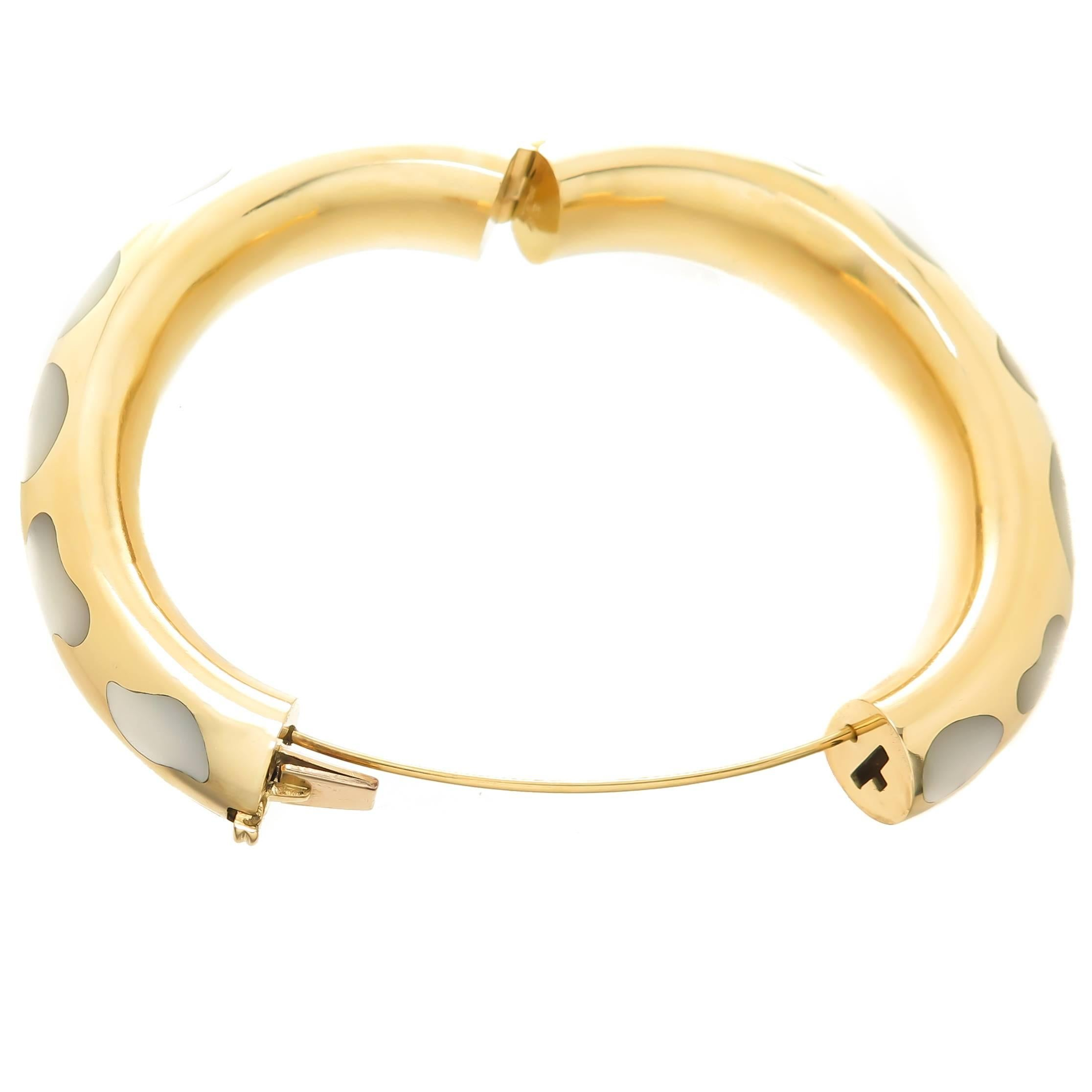 john inch johnsbrana brushed tapered gold anticlastic bangle aluminum bangles s products bracelet brana