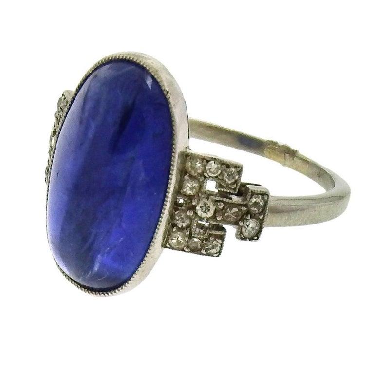 Tiffany & Co. Art Deco Burma Sapphire Ring