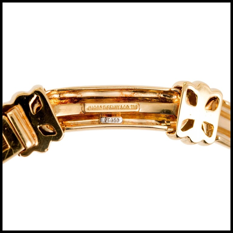 Round Cut Tiffany & Co. Atlas 1.00 Carat Diamond Gold Platinum Necklace For Sale