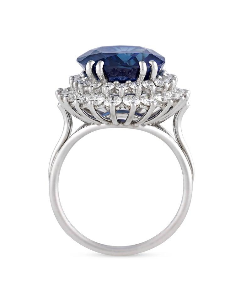 Modern Tiffany & Co. Ceylon Sapphire Ring, 10.93 Carat For Sale