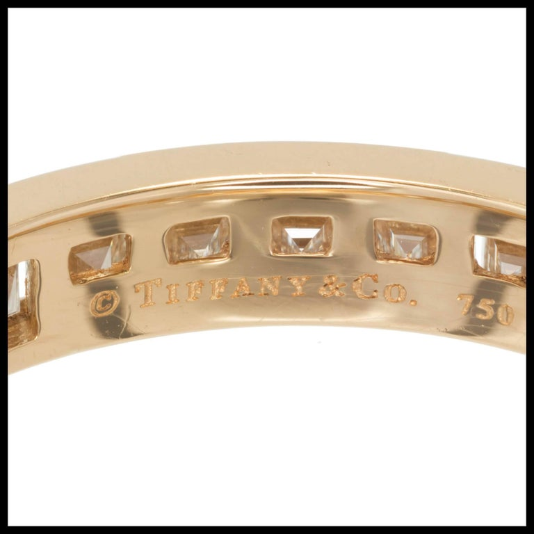 Tiffany & Co. 1.70 Carat Channel Diamond Eternity Band Ring In Excellent Condition For Sale In Stamford, CT