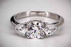 Tiffany & Co. Diamond Platinum Three-Stone Engagement Ring