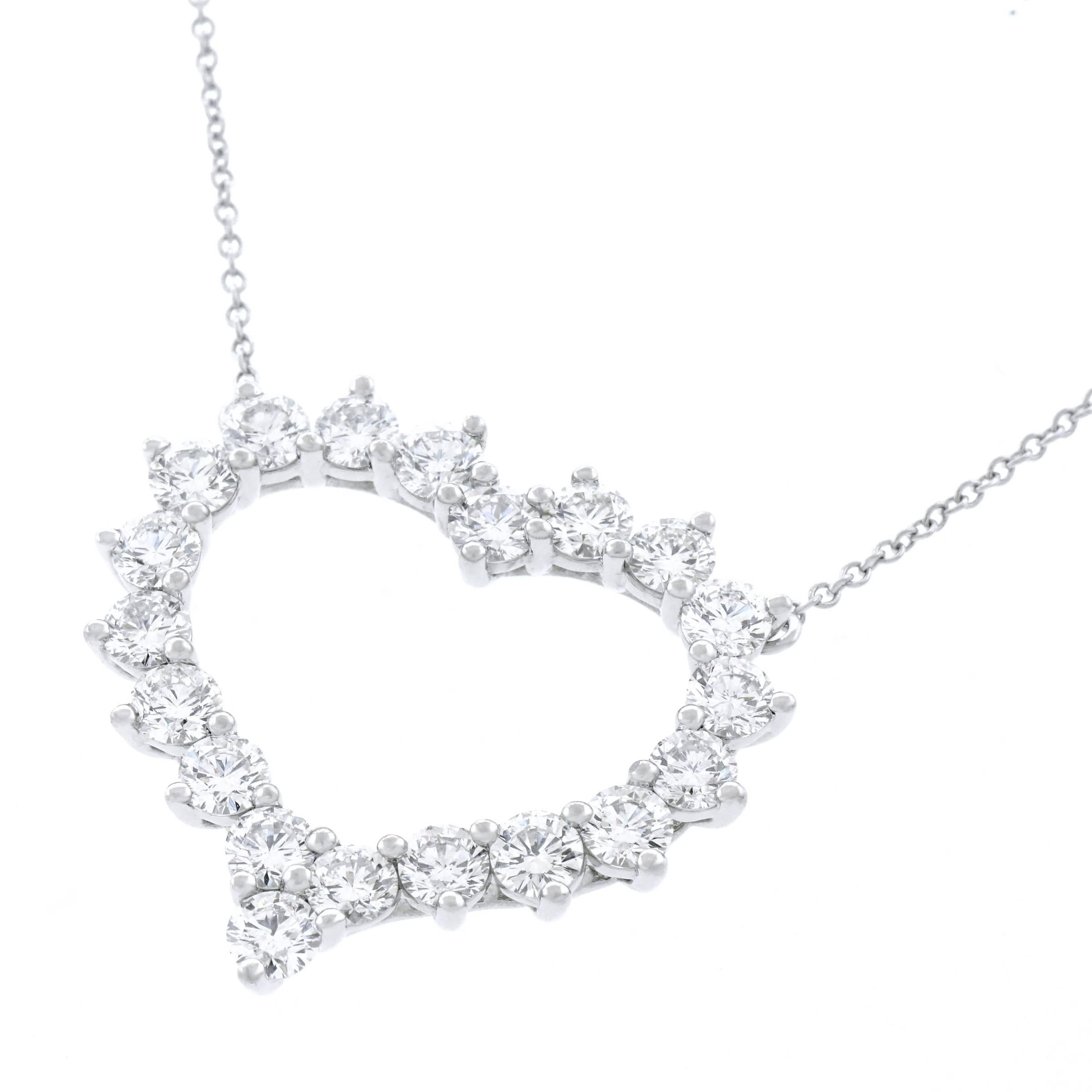 deco art necklace platinum pendant filigree diamond