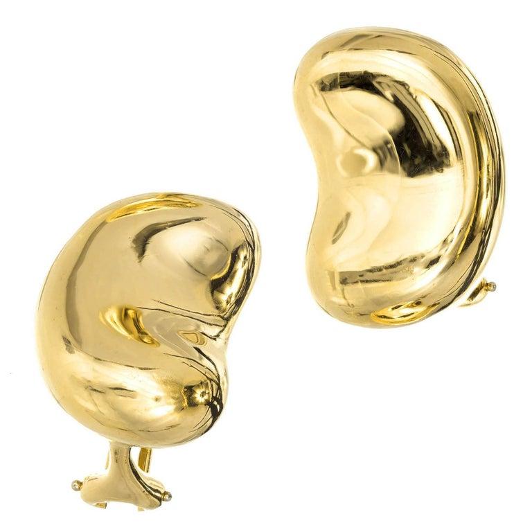 Tiffany & Co. Elsa Peretti Large Bean Yellow Gold Earrings
