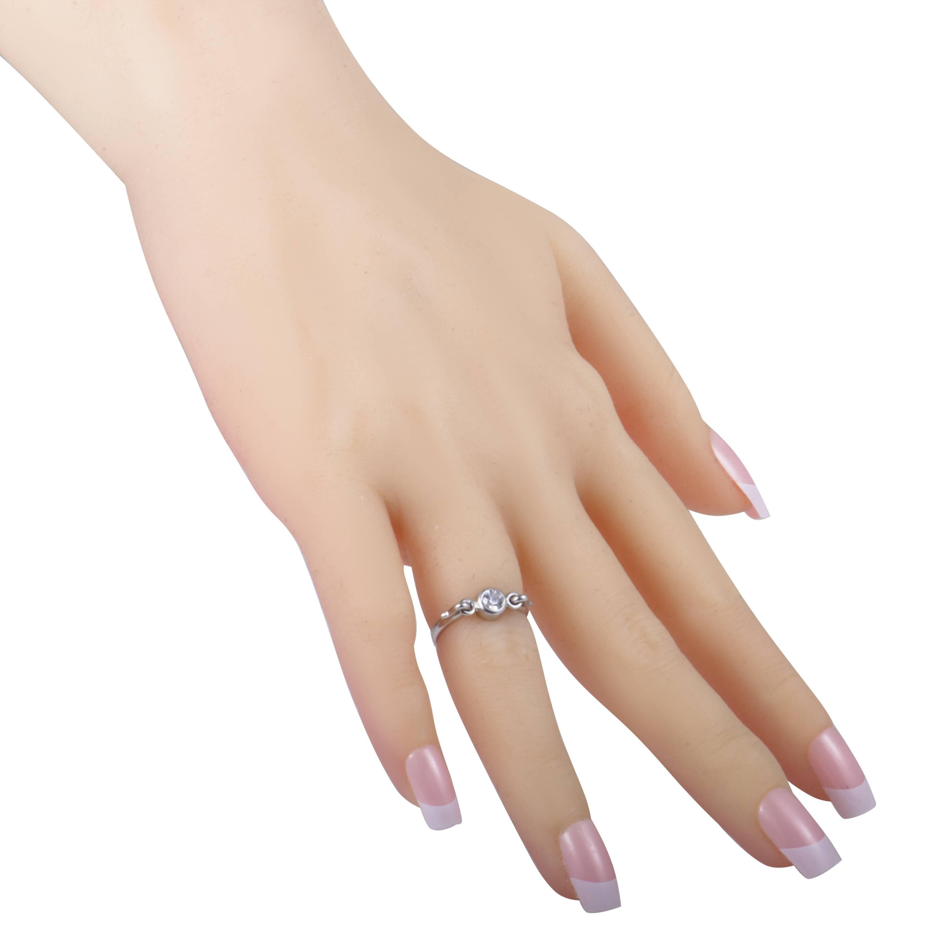dac3f985e Tiffany and Co. Elsa Peretti Platinum Diamond Swan Ring at 1stdibs