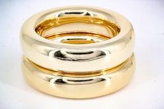 TIFFANY & CO. ELSA PERETTI Set of Two (2) Gold Bangle Bracelets