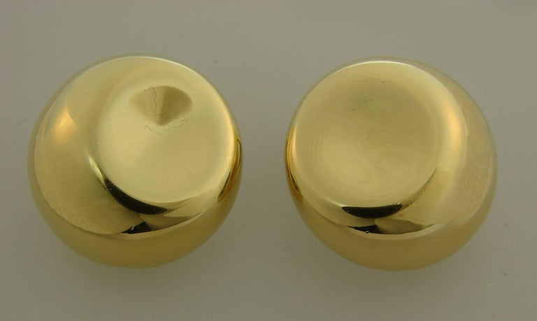 Tiffany & Co. Elsa Peretti Yellow Gold Earrings For Sale 1
