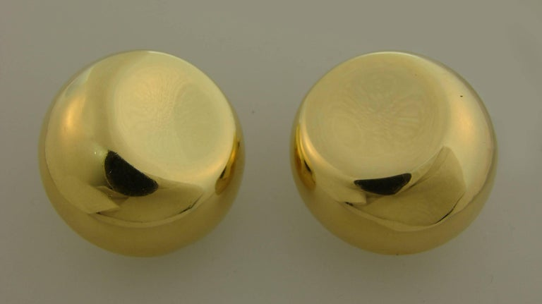 Tiffany & Co. Elsa Peretti Yellow Gold Earrings For Sale 2