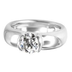 Tiffany & Co. Etoile Solitaire Diamond Engagement Ring in Platinum 1.07 Carat