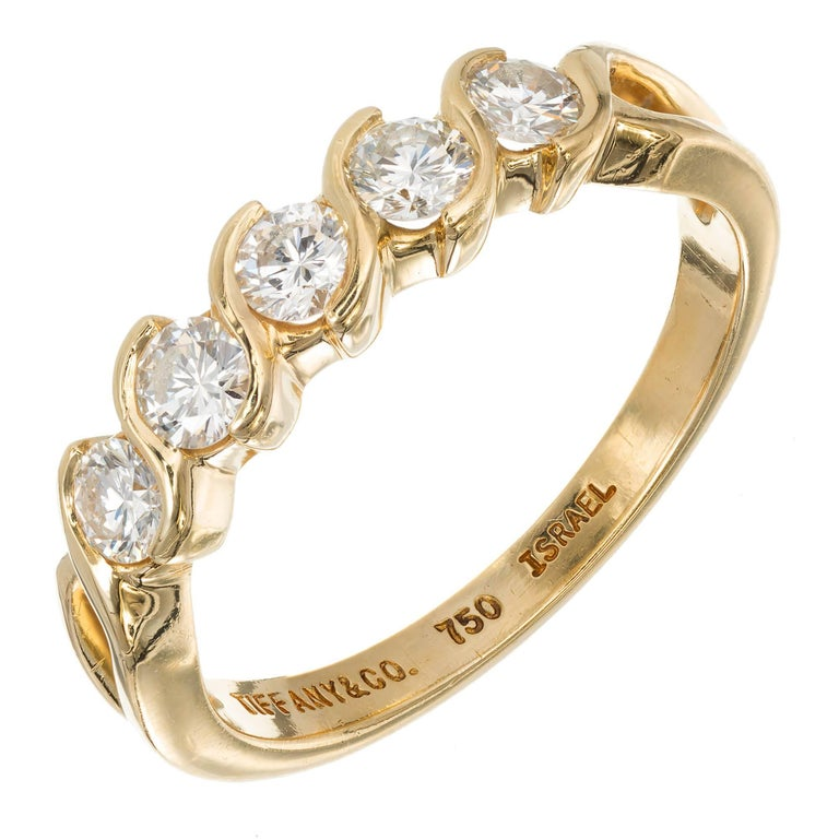 diamond listing gold five engagement this ring item like il band rings yellow