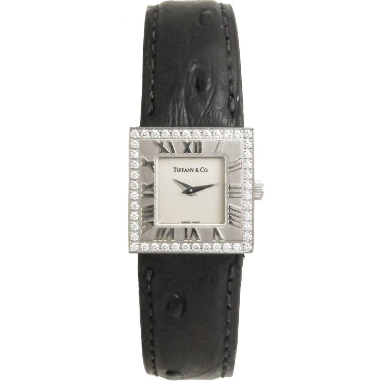 Tiffany & Co. Ladies White Gold Diamond Atlas Quartz Wristwatch