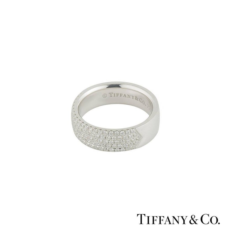 Tiffany And Co Metro Five Row Diamond Band Ring For Sale