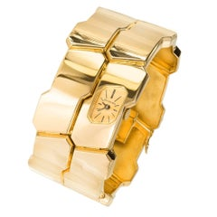 Tiffany & Co. Yellow Gold Modernist Bangle Bracelet manual wind Wristwatch