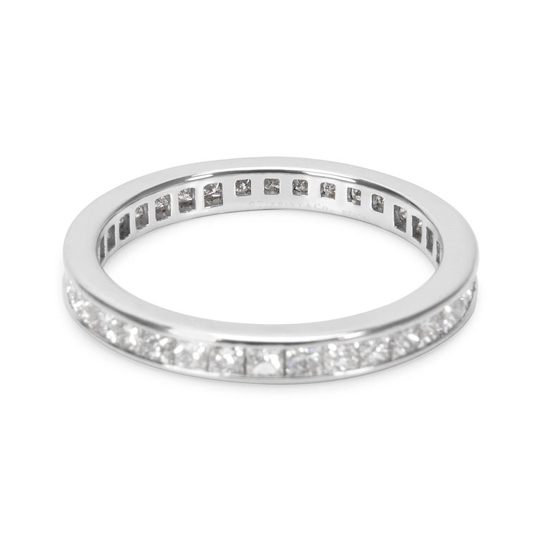Tiffany And Co Princess Cut Diamond Eternity Band In