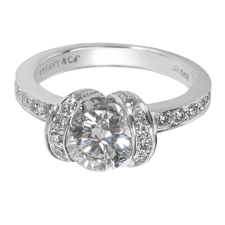 Tiffany & Co. Ribbon Diamond Engagement Ring in Platinum, 1.27 Carat
