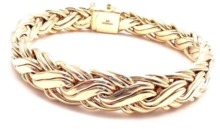 b80c289de78 Yellow Gold Russian Weave Bracelet by Tiffany & Co. Details: Length: 7.25