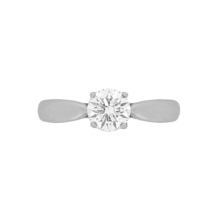 Tiffany & Co. Solitaire Diamond Ring, Triple XXX