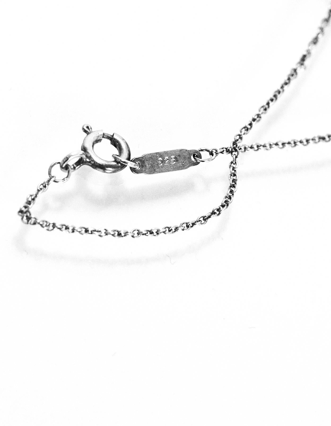 001b06175 Tiffany and Co. Sterling Dog Bone Charm Necklace w. Dust Bag For Sale at  1stdibs
