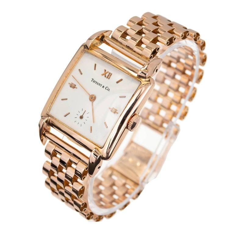Tiffany & Co. Universal Geneve Rose Gold Wristwatch, 1950