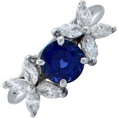 Tiffany & Co. Victoria Sapphire and Diamond Ring
