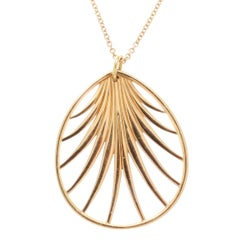 Tiffany & Co. Villa Poloma Palm Gold Necklace