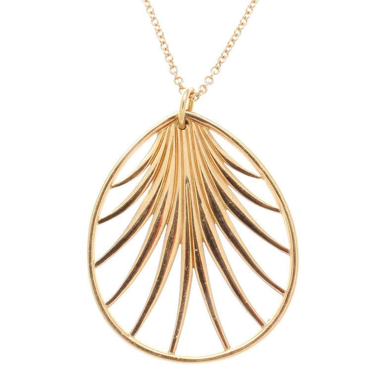 Tiffany & Co. Villa Poloma Palm Gold Necklace